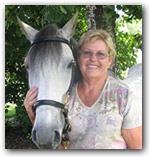 Linda Holzer with Duque, a Paso Fino gelding.
